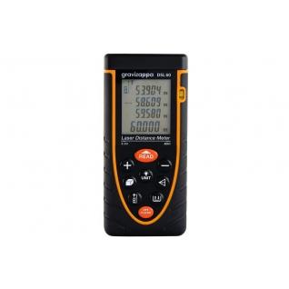 Дальномер лазерный GRAVIZAPPA DSL60 дальность 0.2-60м, точность 2мм, подсветка, ...