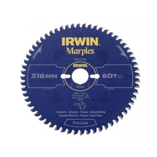 Диск пильный Irwin MARPLES Precision 250x2,5х 80Tx30 мм по дереву, алюминию, пластику