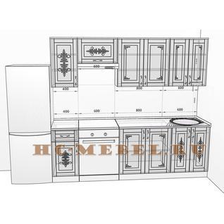 Кухня БЕЛАРУСЬ-9.1 модульная, правая, левая