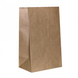 Пакет коричневый, крафт-бумага, 290х179х118 мм, 1000шт/уп.