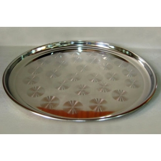 Нержавеющая посуда (КНР) Поднос нержавеющий круглый 35 см
