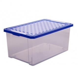 Ящик для хранения Optima 12 л, синий, с крышкой