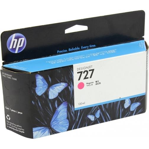 Оригинальный картридж B3P20A №727 для принтеров HP Designjet T1500/T2500/T920, пурпурный, струйный, 130 мл 8628-01 Hewlett-Packard 850391