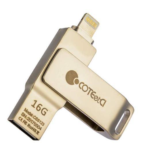 Флеш-накопитель COTEetCI U2 Civilian Version iUSB (CS5123-16G) с разъемом Lightning для iOS, Mac/ PC 16 Gb Серебристый 42531196