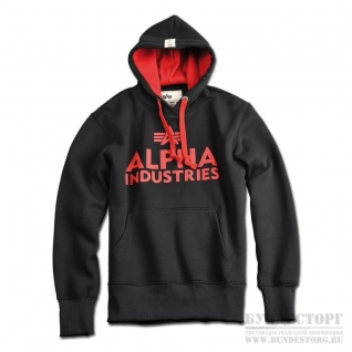 Alpha Industries Толстовка Alpha Industries Foam Print, цвет черный