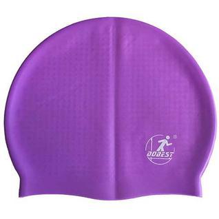 Шапочка для плавания силиконовая массажная Dobest Xa10 (фиолетовая)