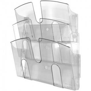 Дисплей настенный Attache 3 отделения А4 горизонтальные прозрачный