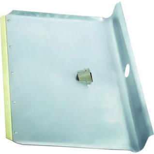 Лопата снеговая алюмин 600х400, б/черенка, мет.окант (61541)