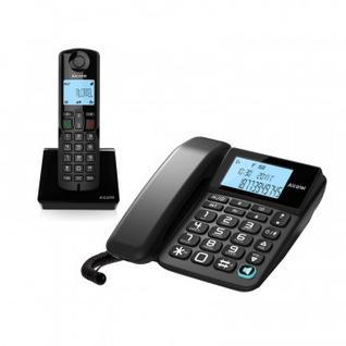 Радиотелефон ALCATEL S250 COMBO RU черный