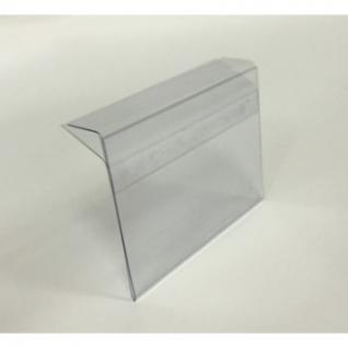 Ценникодержатель полочный 80х60мм для стекл.полок толщиной 5-8 мм, ПЭТ,1