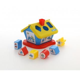 """Логический домик """"Смурфики"""" с 6 кубиками №3 Полесье"""