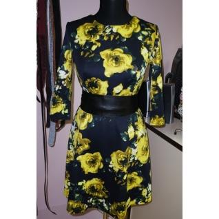 Трикотажное платье с поясом ML 45002990