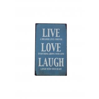 "Магнит ""Live Love Laught"" голубой"
