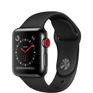 Часы Apple Watch Series 3 42mm Cellular Space Gray Aluminum Case with Black Sport Band MQK22 MTGT2