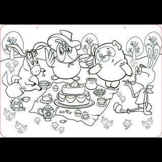 """Коврик-раскраска маленький """"Винни Пух"""" Союзмультфильм 48х33,5 см ЯиГрушка"""