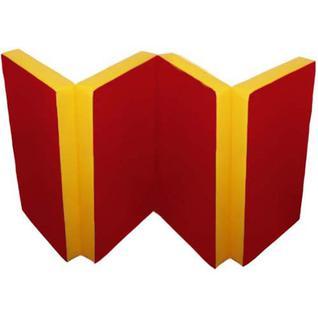 Kampfer Детский спортивный мат Kampfer №7 (200 х 100 х 10 см) красно-желтый