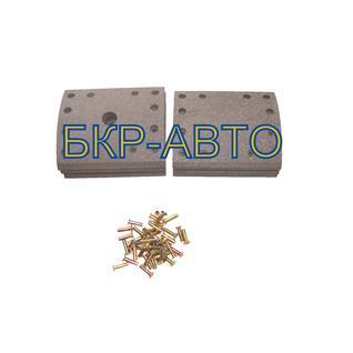 Накладка тормозная BMT комплект на ось 8шт с заклёпкой 311х178 501570/501572/01 BMT(БМТ)