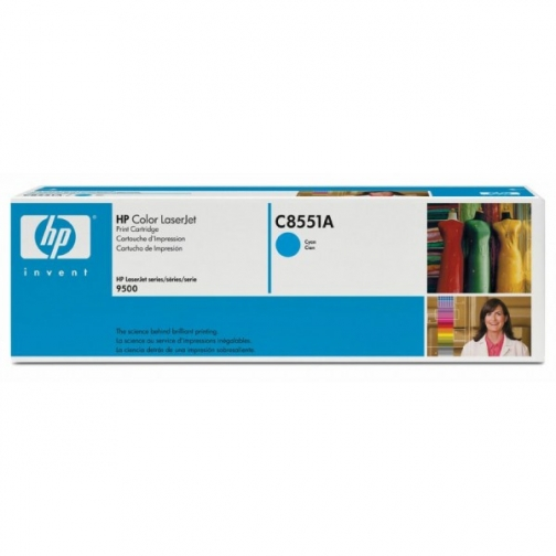 Оригинальный картридж HP C8551A для HP CLJ 9500 (голубой, 25000 стр.) 787-01 Hewlett-Packard 852547 1