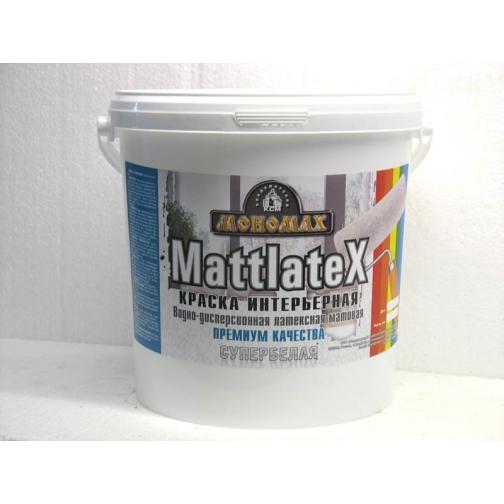 Краска Мономах Мattlatex Premium, 98% белизны ИНТЕРЬЕРНАЯ 7 кг 6449152