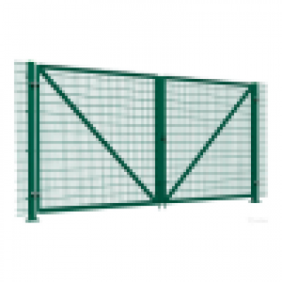Ворота распашные из панельной сетки, 4000х1500мм