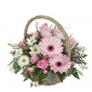 Корзинка с цветами-3