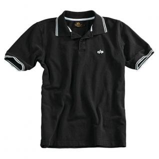Alpha Industries Рубашка поло Alpha Industries, цвет черно-белый