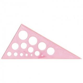 Линейка Треугольник с окружностями 19смугол30градпластикNEONCristalассорт