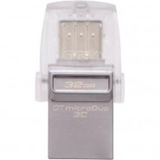 Флеш-память Kingston microDuo 3C, 64Gb, USB 3.1, Type-C, сере,DTDUO3C/64GB
