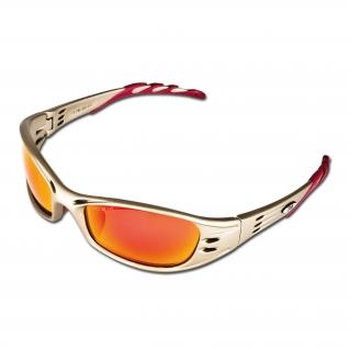 3M Очки защитные 3M Fuel с зеркальным покрытием красного цвета