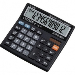 Калькулятор настольный КОМПАКТНЫЙ CITIZEN бухг. CT555N 12 разрядов DP