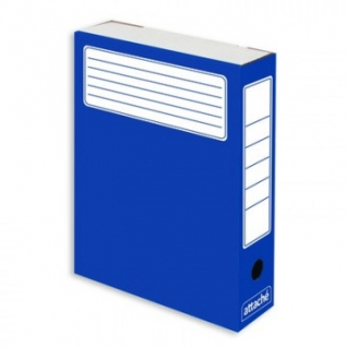 Короб архивный синий ATTACHE (гофрокартон), 5 шт./уп.