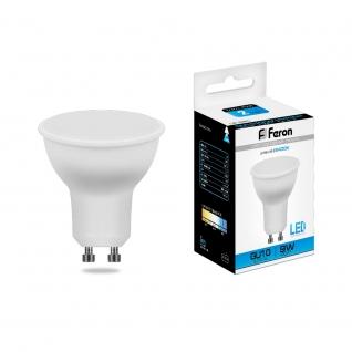 Светодиодная лампа Feron LB-560 (9W) 230V GU10 6400K MR16