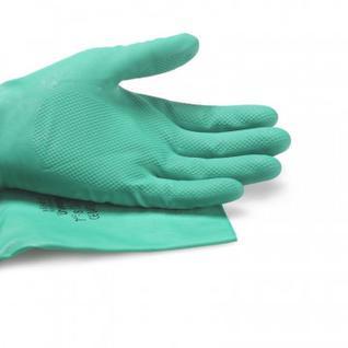 Перчатки резиновые Vileda Profes нитрил хлопков.напыл зеленый р-р S 100800