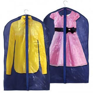 Чехол для одежды воздухопроницаемый материал, синий 90х60 см 5515