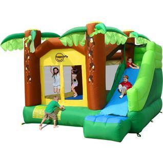 HAPPY HOP Детский надувной батут с горкой Джунгли HAPPY HOP 9164