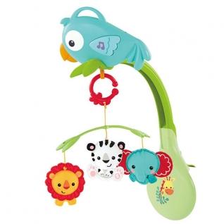 """Мобили для малышей Mattel Fisher-Price Mattel Fisher-Price CHR11 Фишер Прайс Мобиль 3в1 """"Друзья из тропического леса"""""""