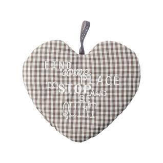 Грелка с наполнением из вишневых косточек FASHY СЕРДЦЕ хлопок серый, 18 x 20 см