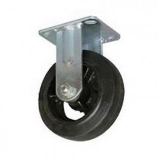 Колесо для тележки FCd 200, непов, литая резина, без торм, 200мм
