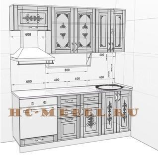 Кухня БЕЛАРУСЬ-2В модульная, правая, левая