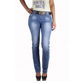 Женские джинсы с ремнём MossMore MR1070B-102