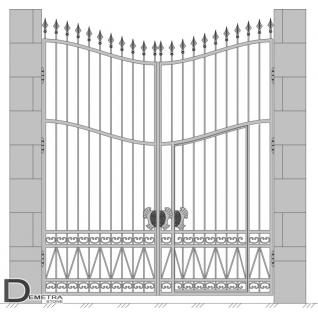 Кованые ворота калитка В-010 (кв.м)