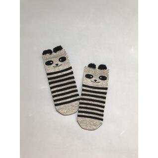 Ф002 носки детские серый панда полоса Фенна (12-18) (12)