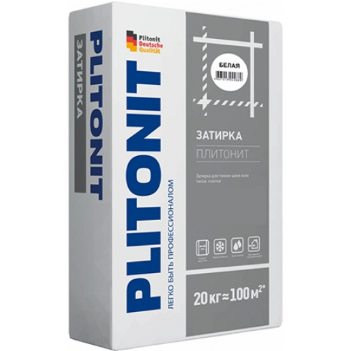 ПЛИТОНИТ затирка для плитки белая (20кг) / PLITONIT затирка для плитки белая (20кг) Плитонит 36984058