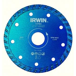 Диск алмазный Irwin 115/22,2 мм ТУРБО сухая и влажная резка