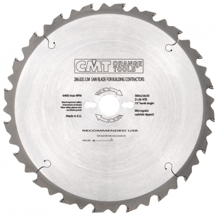 Пильный диск CMT строительные для пиления древесины с гвоздями 600x30x4,2/3,2 15° 5° ATB Z=40 286.040.24M