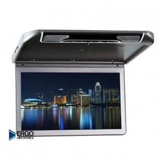 """Автомобильный потолочный монитор 13.3"""" со встроенным Full HD медиаплеером ERGO ER13S (серый) Ergo"""