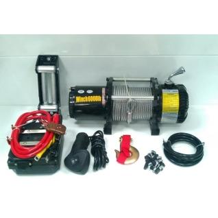 Лебедка автомобильная ATV Electric Winch 12v 6000 LBS 3х контактная