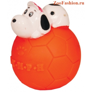"""Игрушка для собак """"Мяч с собакой"""" (7см)"""