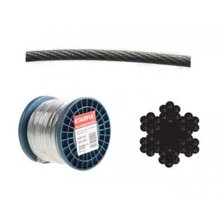 Трос стальной в ПВХ SWR M8 PVC M10 DIN 3055 (бухта/100м) (STARFIX) STARFIX