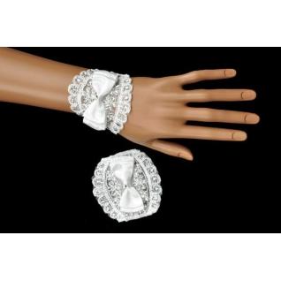 Перчатки свадебные №138, белый (короткие)